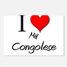 I Love My Congolese Postcards (Package of 8)
