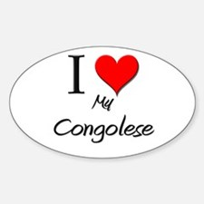 I Love My Congolese Oval Decal