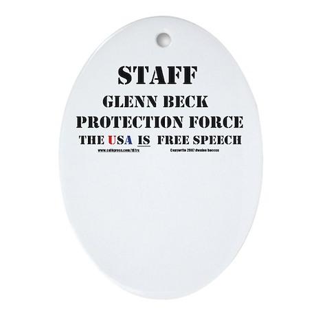 Glenn Beck Protection Force Oval Ornament