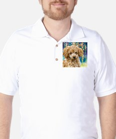 Poodle Painting Golf Shirt