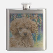 Poodle Painting Flask