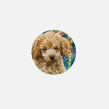 Poodle Painting Mini Button