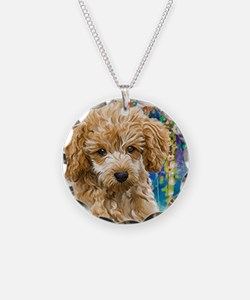 Poodle Painting Necklace