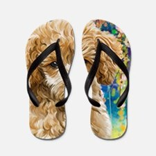 Poodle Painting Flip Flops
