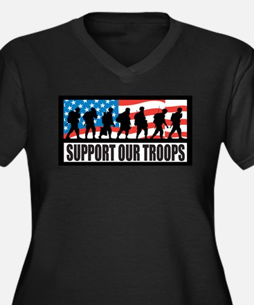 Support Our Troops - Infantry Plus Size T-Shirt