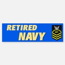 Retired Navy CPO Bumper Bumper Bumper Sticker