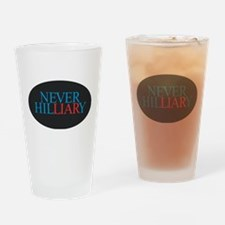 Never Hilliary Drinking Glass