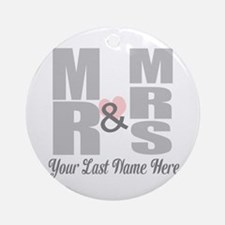 Mr and Mrs Love Round Ornament