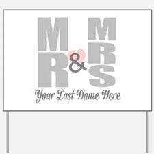 Mr and Mrs Love Yard Sign