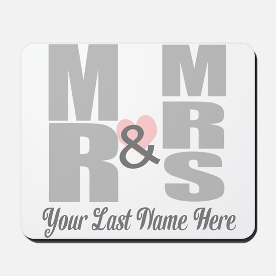 Mr and Mrs Love Mousepad