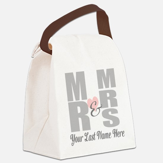Mr and Mrs Love Canvas Lunch Bag