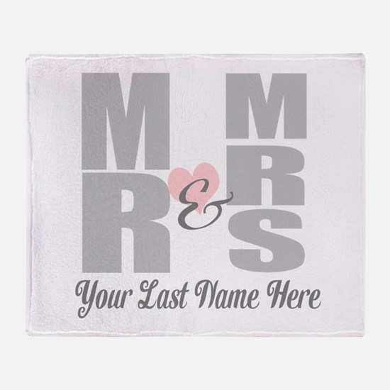 Mr and Mrs Love Throw Blanket