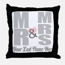 Mr and Mrs Love Throw Pillow
