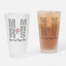 Mr and Mrs Love Drinking Glass