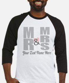 Mr and Mrs Love Baseball Jersey