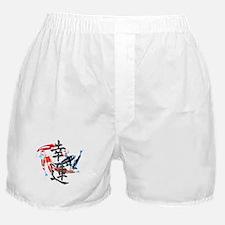 "Kanji ""Good Fortune"" w/ Koi Boxer Shorts"