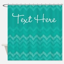 Green Personalized Shower Curtain
