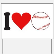 I Love Baseball (design) Yard Sign