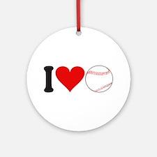 I Love Baseball (design) Ornament (Round)