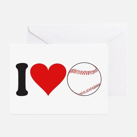I Love Baseball (design) Greeting Cards (Pk of 10)