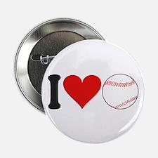 "I Love Baseball (design) 2.25"" Button"