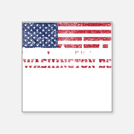 Washington DC American Flag Skyline Sticker