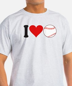 I Love Baseball (design) T-Shirt