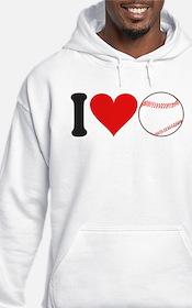 I Love Baseball (design) Hoodie