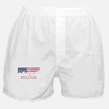 Orlando FL American Flag Skyline Boxer Shorts