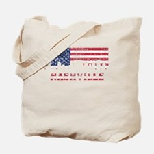 Nashville TN American Flag Skyline Tote Bag