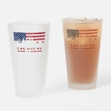 Las Vegas NV American Flag Skyline Drinking Glass