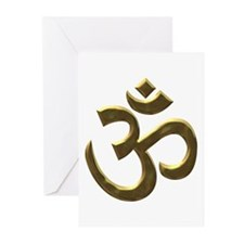 Golden Ohm & Buddha Quote Greeting Cards (Pk of 20