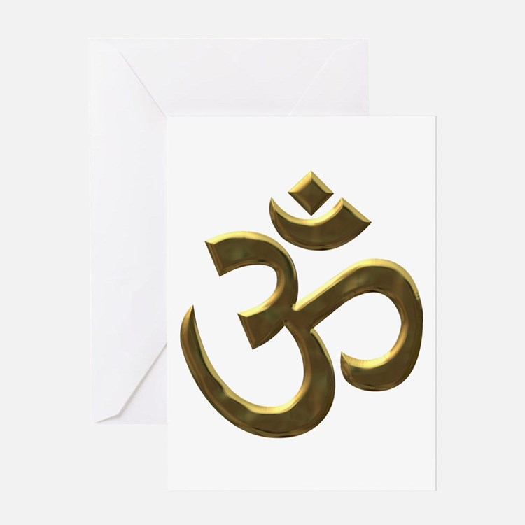 Golden Ohm & Buddha Quote Greeting Card