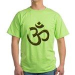Golden Ohm & Buddha Quote Green T-Shirt