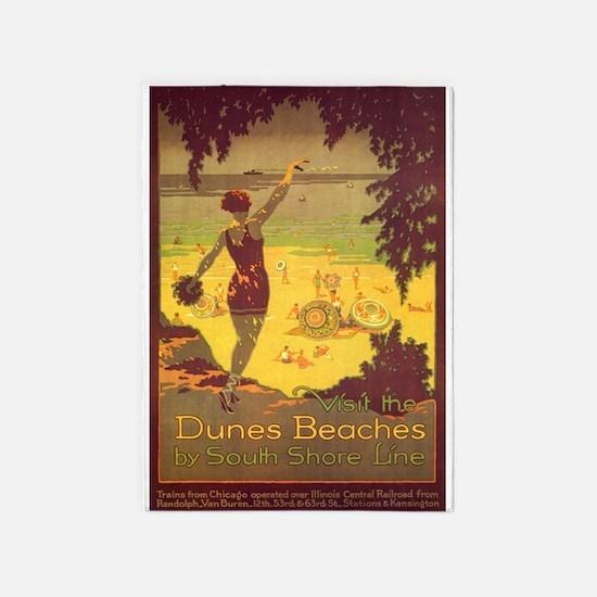 Dunes Beaches, Chicago, Beach, 5'x7'area R