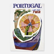 Portugal, Travel, Vintage Poster 5'x7'area