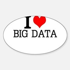 I Love Big Data Decal