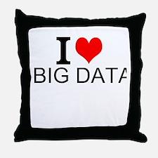 I Love Big Data Throw Pillow