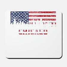 Chicago IL American Flag Skyline Mousepad