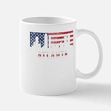 Atlanta GA American Flag Skyline Mugs