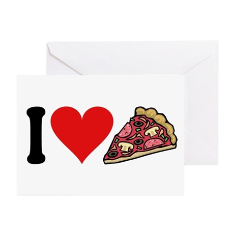 I Love Pizza (design) Greeting Cards (Pk of 10)
