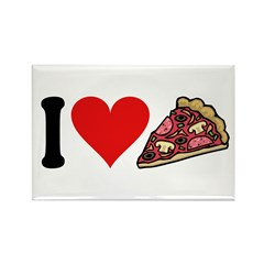 I Love Pizza (design) Rectangle Magnet