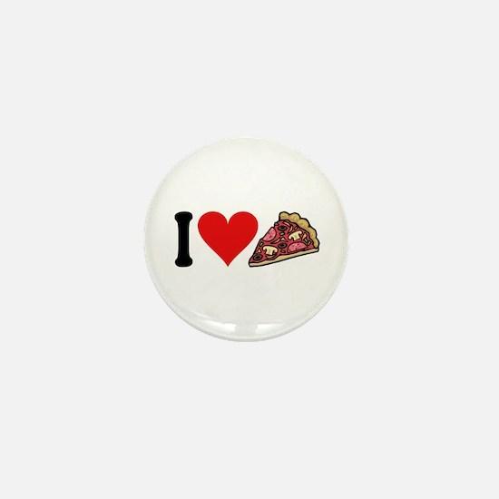 I Love Pizza (design) Mini Button