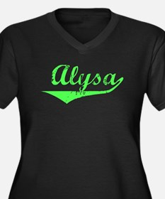 Alysa Vintage (Lt Gr) Women's Plus Size V-Neck Dar