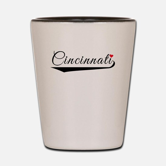 Cincinnati Heart Logo Shot Glass