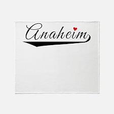 Anaheim Heart Logo Throw Blanket