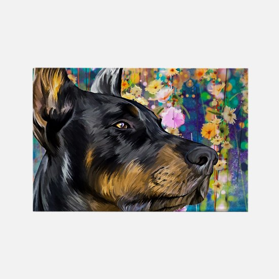 Doberman Painting Magnets