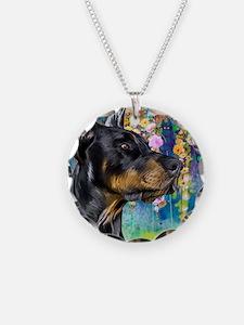 Doberman Painting Necklace