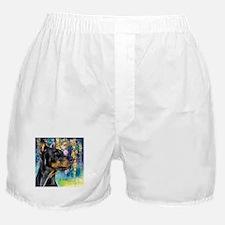 Doberman Painting Boxer Shorts