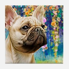 French Bulldog Painting Tile Coaster